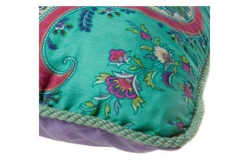 Sierkussen paisley mint met piping